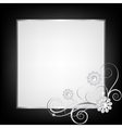 silver jewelry floral frame vector image