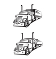 truck and tank truck vector image