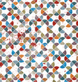 Seamless retro pattern tiles background with messy vector image