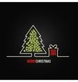 christmas tree gift box design background vector image