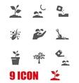 grey growing icon set vector image