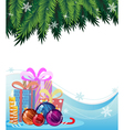 Christmas presents and decorations vector image