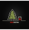 christmas tree gift box design background vector image
