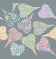 endless pattern of campsis leaves vector image