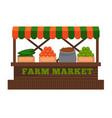 farm market fruit or vegetable vendor booth stall vector image