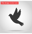 icon gray bird flying flat design with shadow vector image