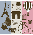 Set of design elements of the old France vector image