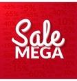 Super sale mega sale banner red EPS 10 vector image