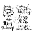 Happy new year lettering set vector image