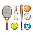sports equipment flat icons vector image