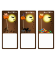 Set of Three Banners of Halloween Night vector image vector image
