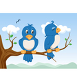 two birds vector image vector image