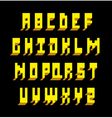 3d font type alphabet vector image