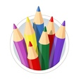 Set of colour pencils for vector image vector image