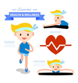exercise health and wellness infographic vector image