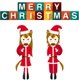 Horse Santa Claus vector image