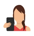 Smartphone and user vector image