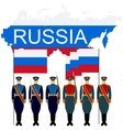 Soldiers Guard of Honour in the Russian Federation vector image vector image