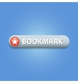 Bookmark Button vector image