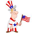 patriotic man vector image