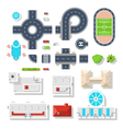 City Element Top View Set vector image