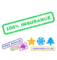 100 Percent Insurance Rubber Stamp vector image