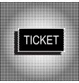 Black ticket icon vector image