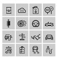 black auto icons set vector image vector image