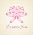 lotus flower abstract logo design vector image
