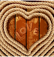 heart of coiled rope vector image