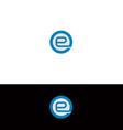 e logo vector image vector image