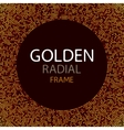 gold disco lights frame or spangles round vector image