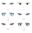 Anime faces vector image