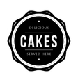 Cakes vintage stamp vector image