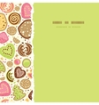 Colorful cookies square torn seamless pattern vector image