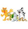 Different type of wild animals vector image