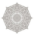 mandala pattern doodle drawing round coloring vector image
