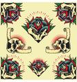 Skull and Rose Frames vector image