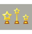 Winner gold cup Trophy star icon vector image