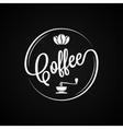 Coffee Logo Vintage Design Background vector image