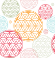 seamles flower of life seed theme vector image