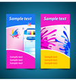 banner print printer background abstract blue text vector image