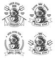 Diving emblem vector image