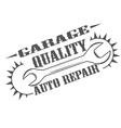 garage quality vector image