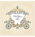 wedding carriage vector image