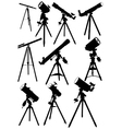 Telescope silhouettes vector image