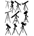 Telescope silhouettes vector image
