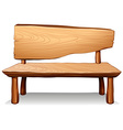 A wooden table vector image