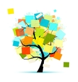 Art tree with stickers for your design vector image