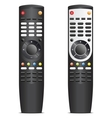 Black remote control vector image